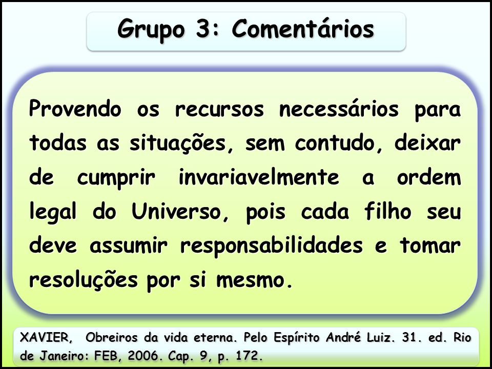 Grupo 3: Comentários
