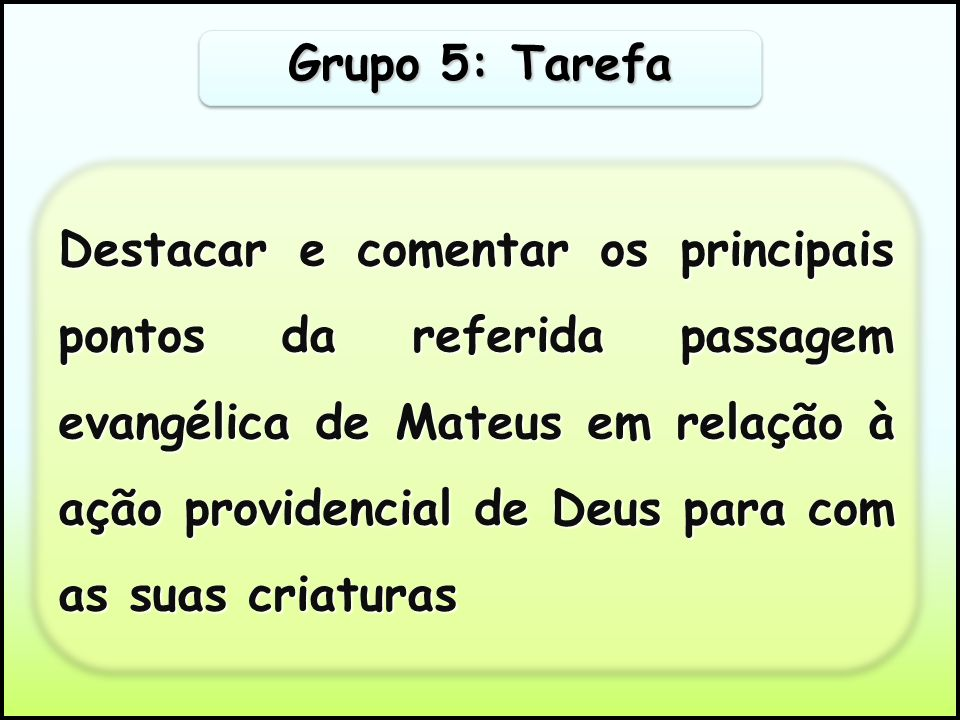 Grupo 5: Tarefa