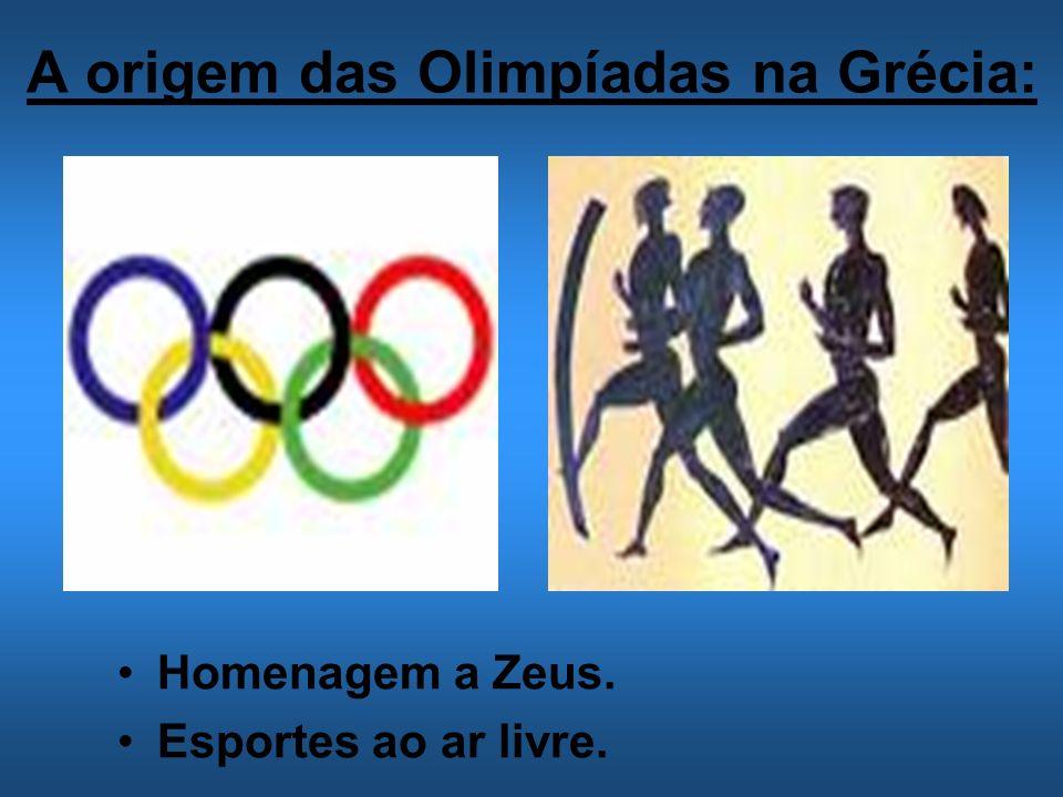 A origem das Olimpíadas na Grécia: