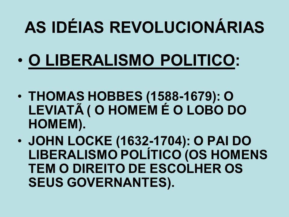 AS IDÉIAS REVOLUCIONÁRIAS