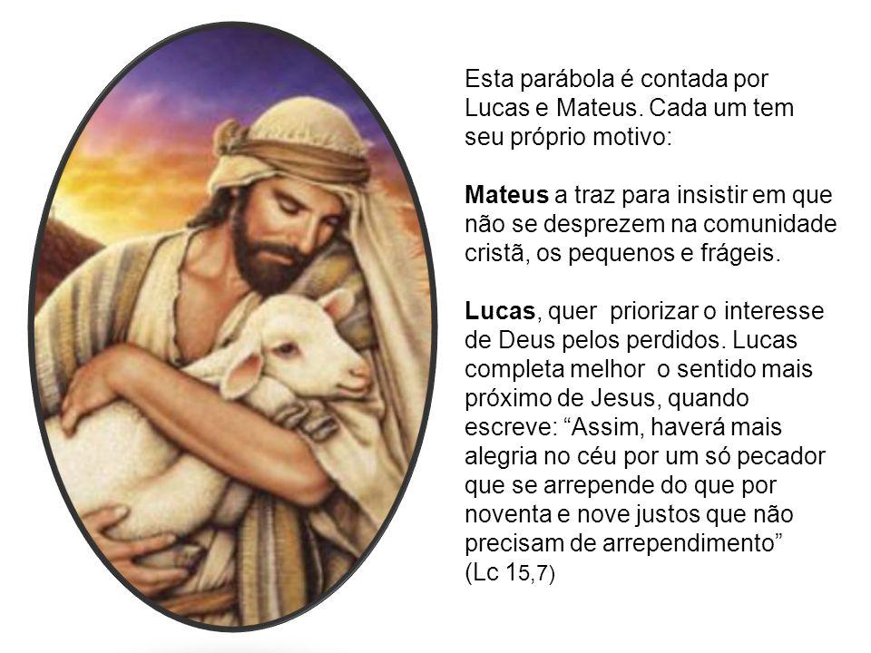 Esta parábola é contada por Lucas e Mateus