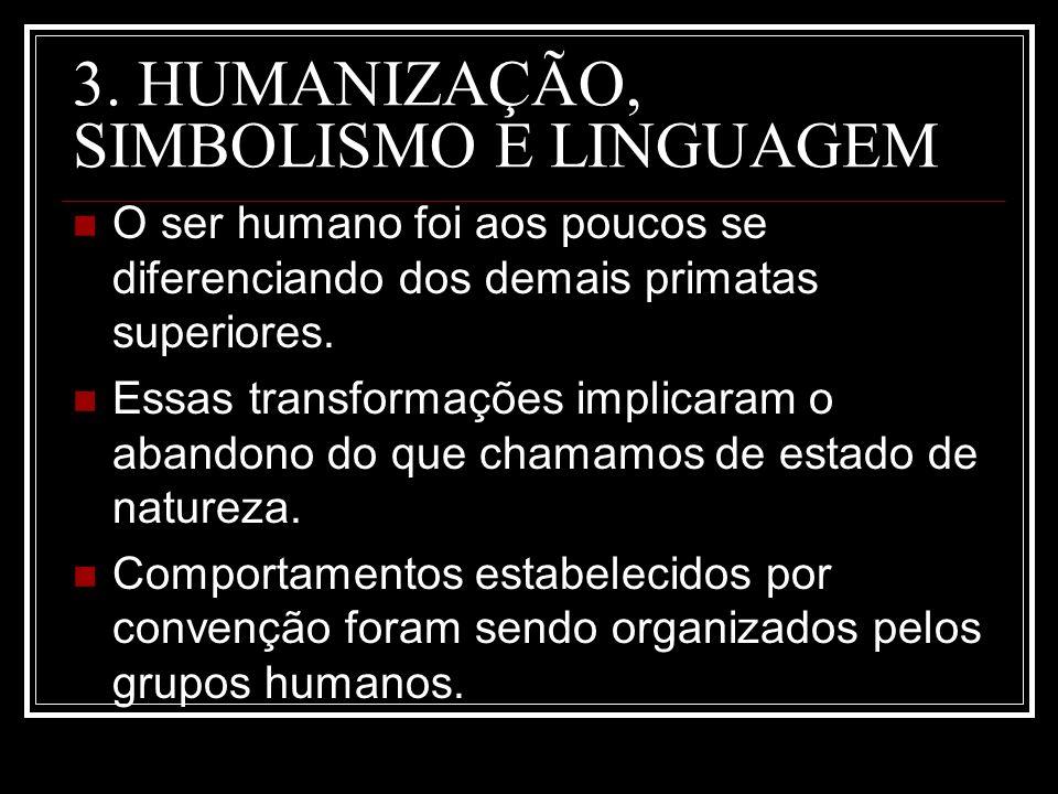 3. HUMANIZAÇÃO, SIMBOLISMO E LINGUAGEM