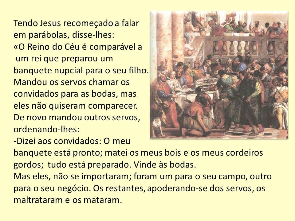 Tendo Jesus recomeçado a falar