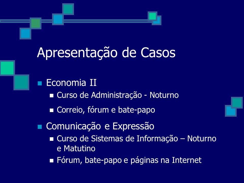 Apresentação de Casos Economia II Comunicação e Expressão