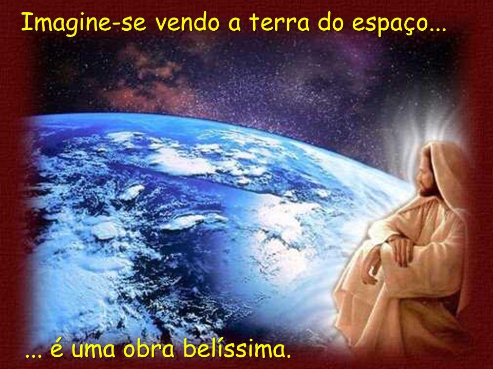 Imagine-se vendo a terra do espaço...