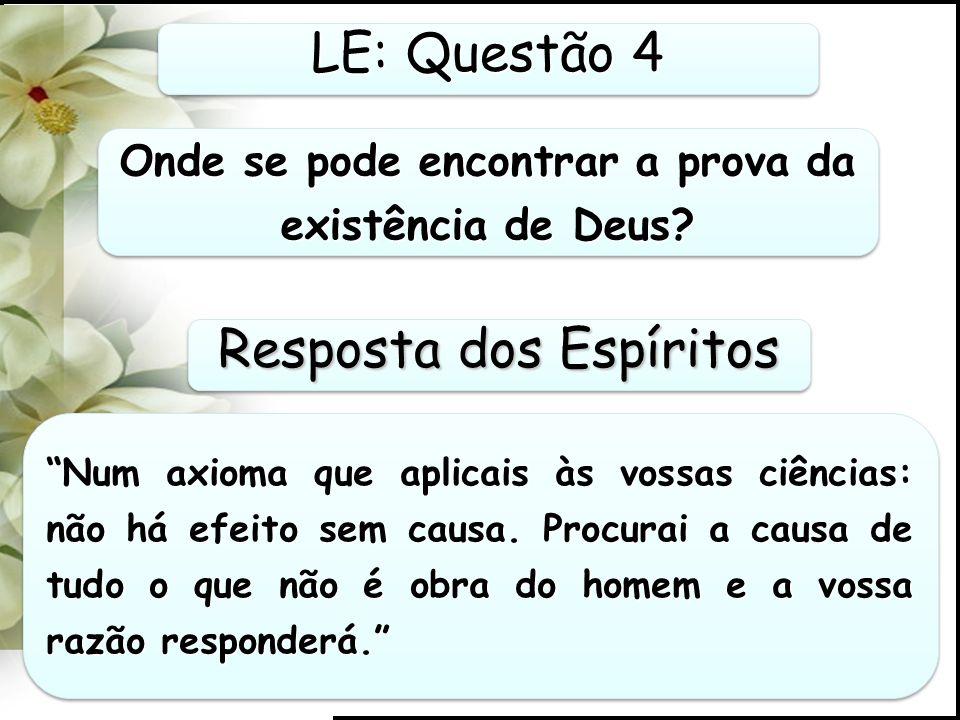 Onde se pode encontrar a prova da existência de Deus