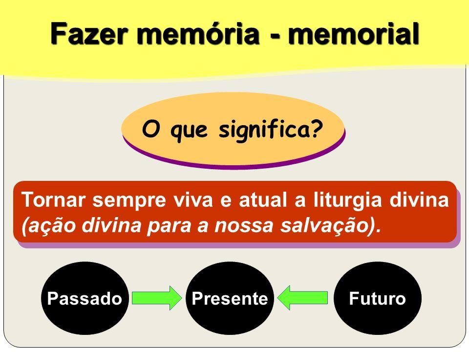 Fazer memória - memorial