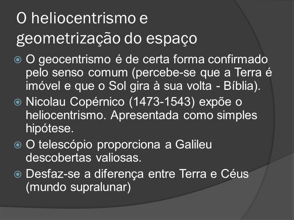 O heliocentrismo e geometrização do espaço