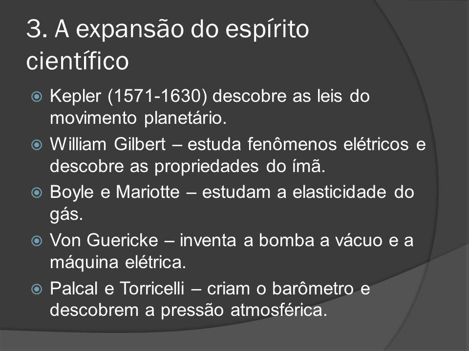 3. A expansão do espírito científico