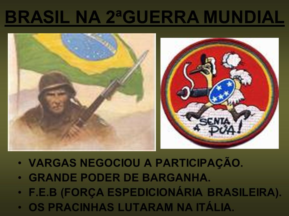 BRASIL NA 2ªGUERRA MUNDIAL