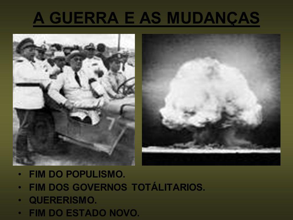 A GUERRA E AS MUDANÇAS FIM DO POPULISMO.