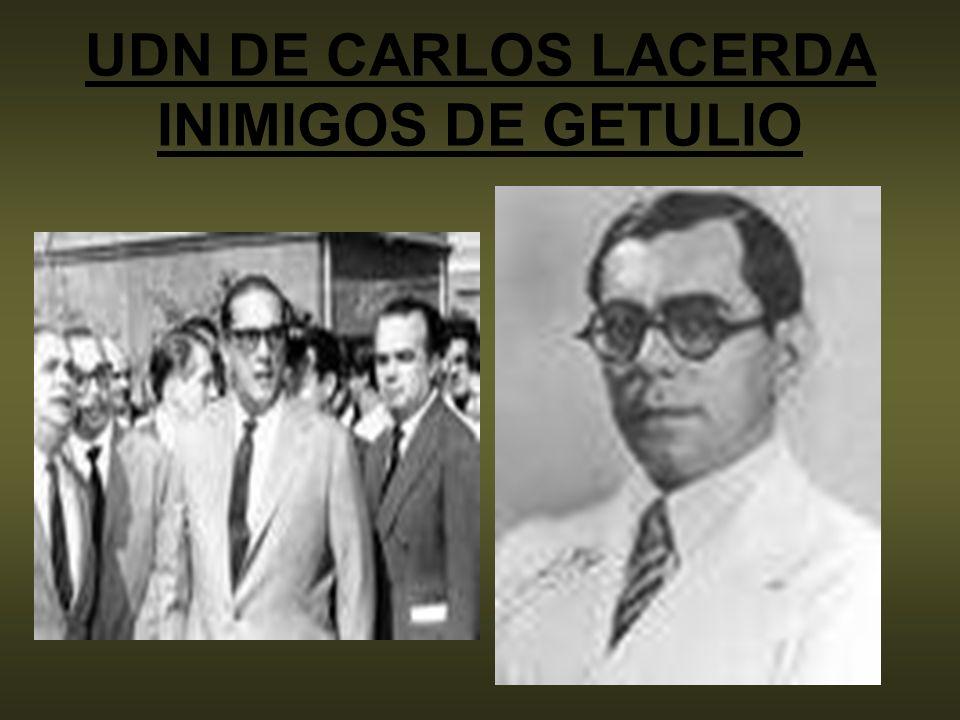 UDN DE CARLOS LACERDA INIMIGOS DE GETULIO