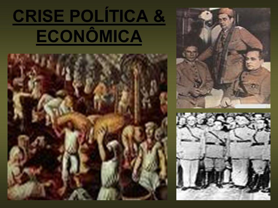 CRISE POLÍTICA & ECONÔMICA