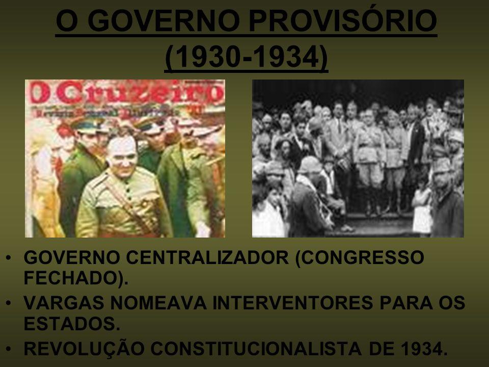 O GOVERNO PROVISÓRIO (1930-1934)