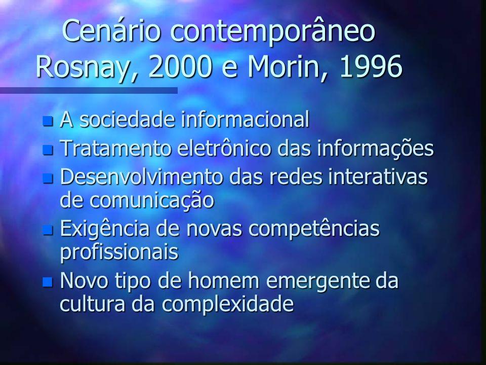 Cenário contemporâneo Rosnay, 2000 e Morin, 1996