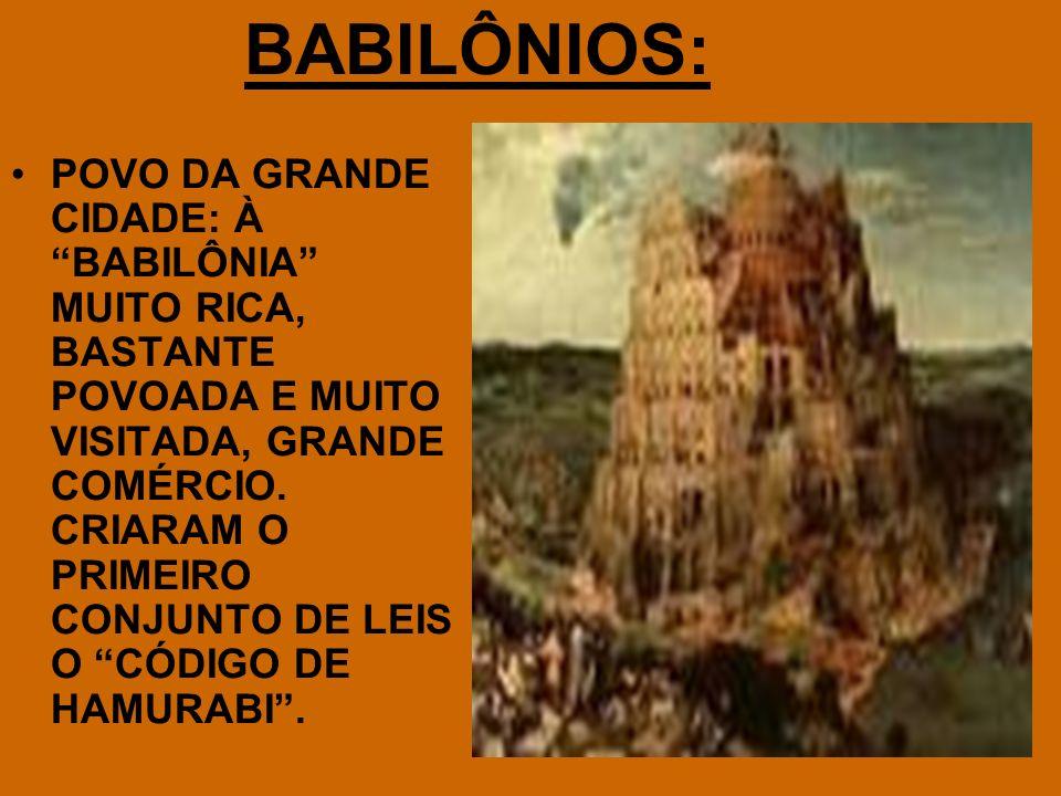 BABILÔNIOS:
