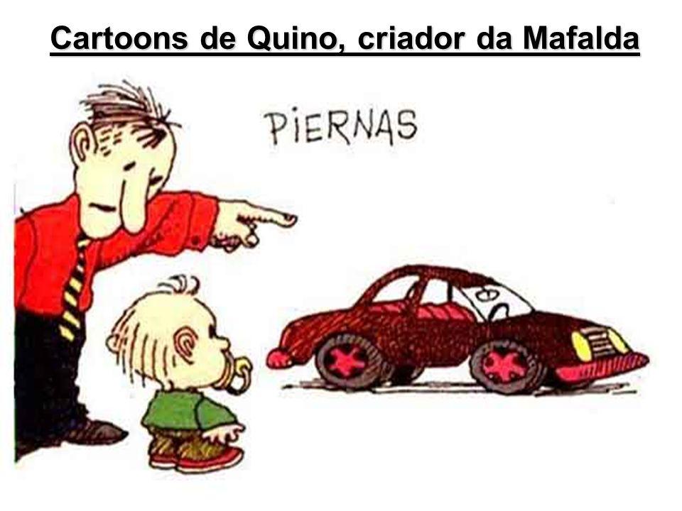 Cartoons de Quino, criador da Mafalda