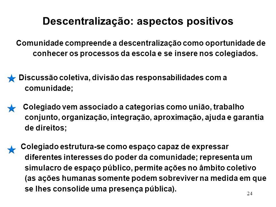 Descentralização: aspectos positivos