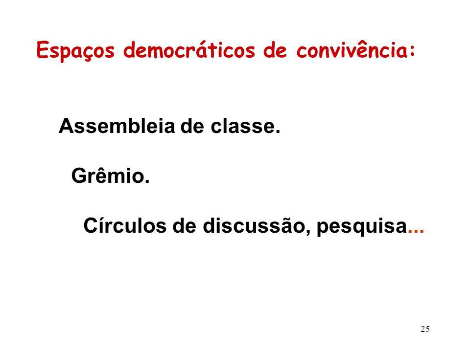 Espaços democráticos de convivência: