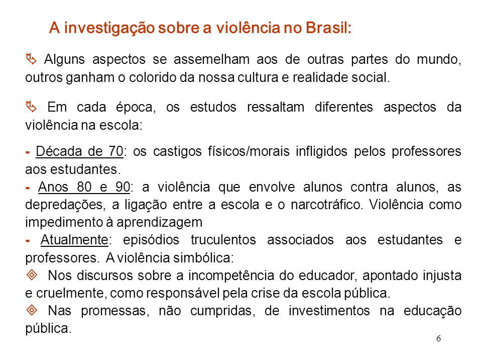 A investigação sobre a violência no Brasil: