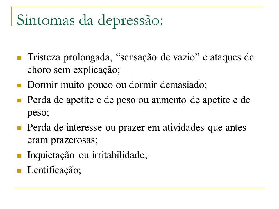 Sintomas da depressão: