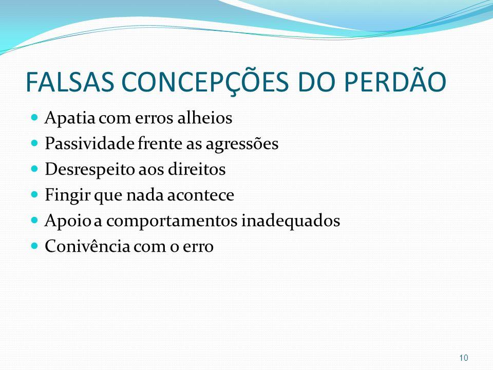 FALSAS CONCEPÇÕES DO PERDÃO