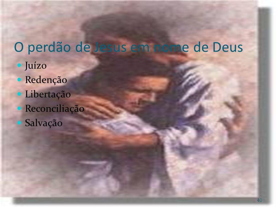 O perdão de Jesus em nome de Deus