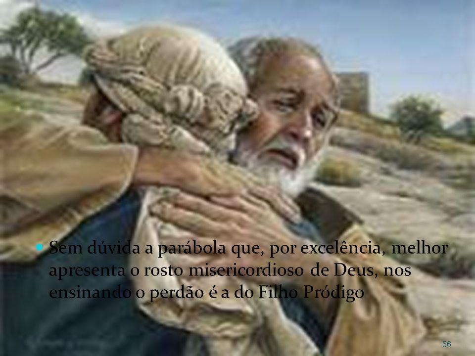 Sem dúvida a parábola que, por excelência, melhor apresenta o rosto misericordioso de Deus, nos ensinando o perdão é a do Filho Pródigo
