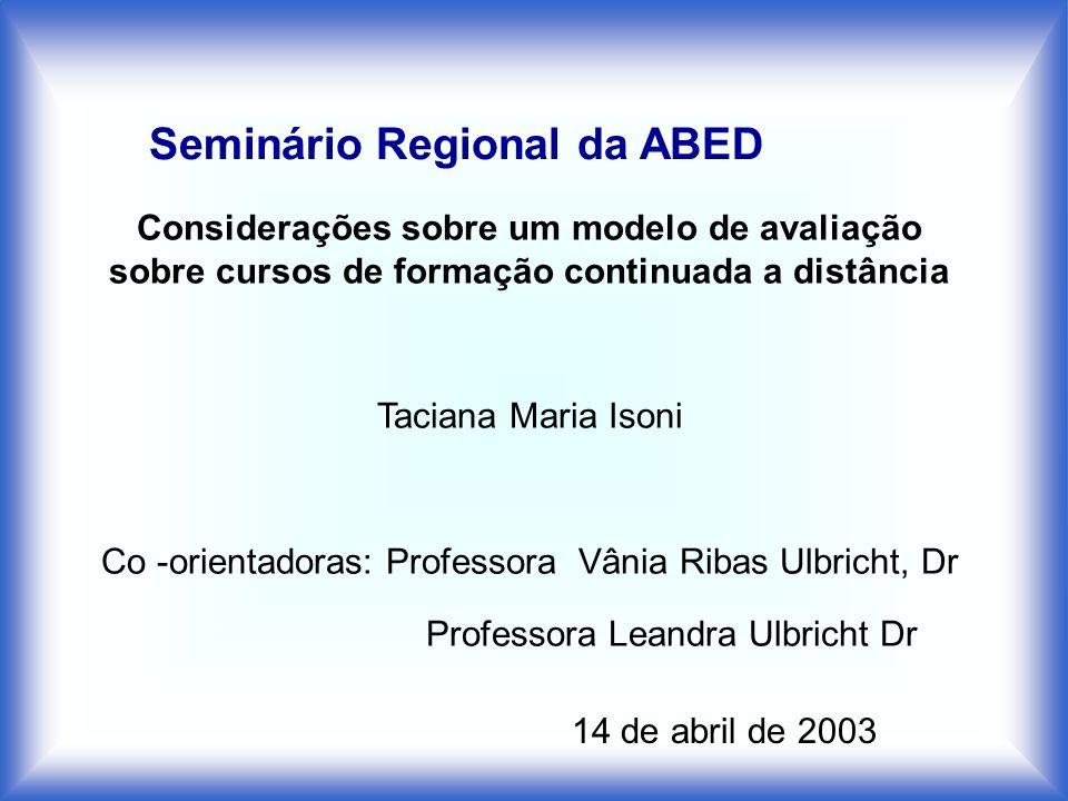 Seminário Regional da ABED