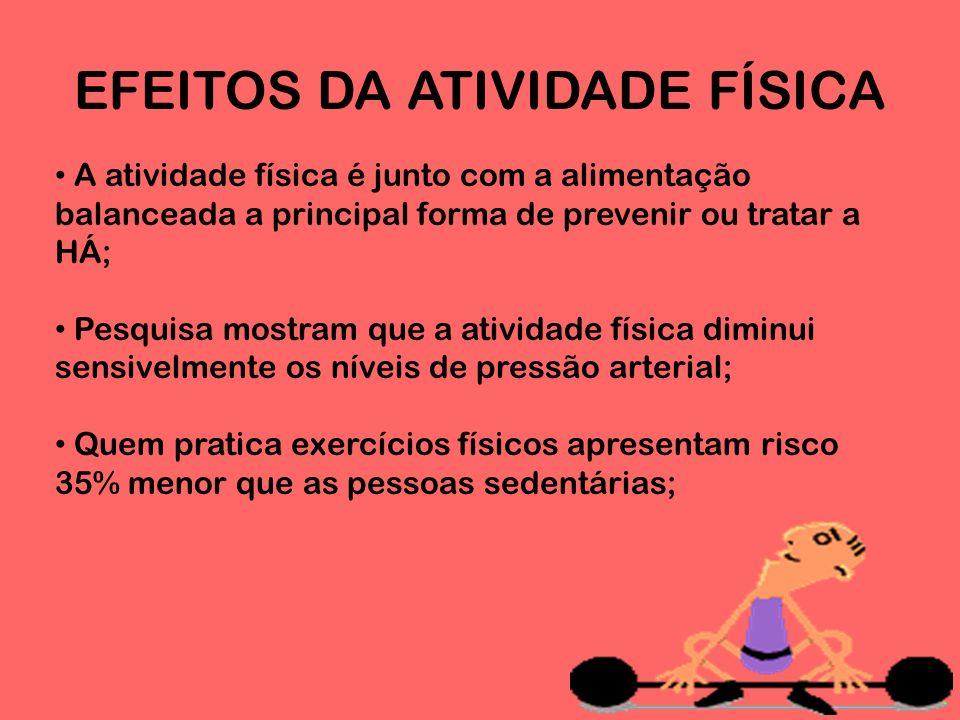 EFEITOS DA ATIVIDADE FÍSICA
