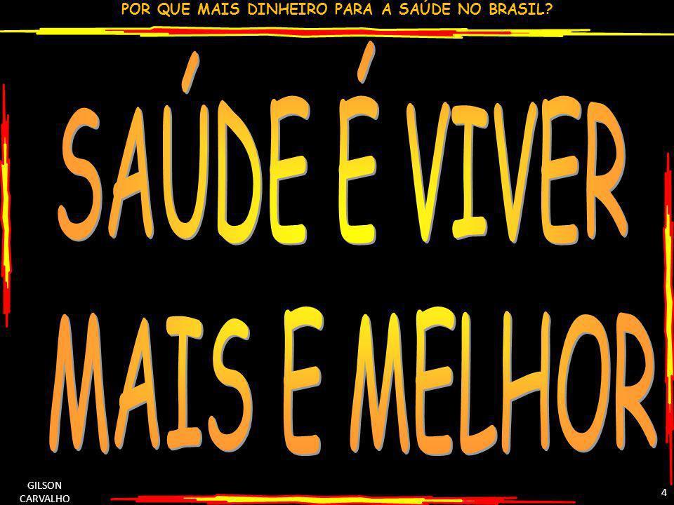 SAÚDE É VIVER MAIS E MELHOR GILSON CARVALHO