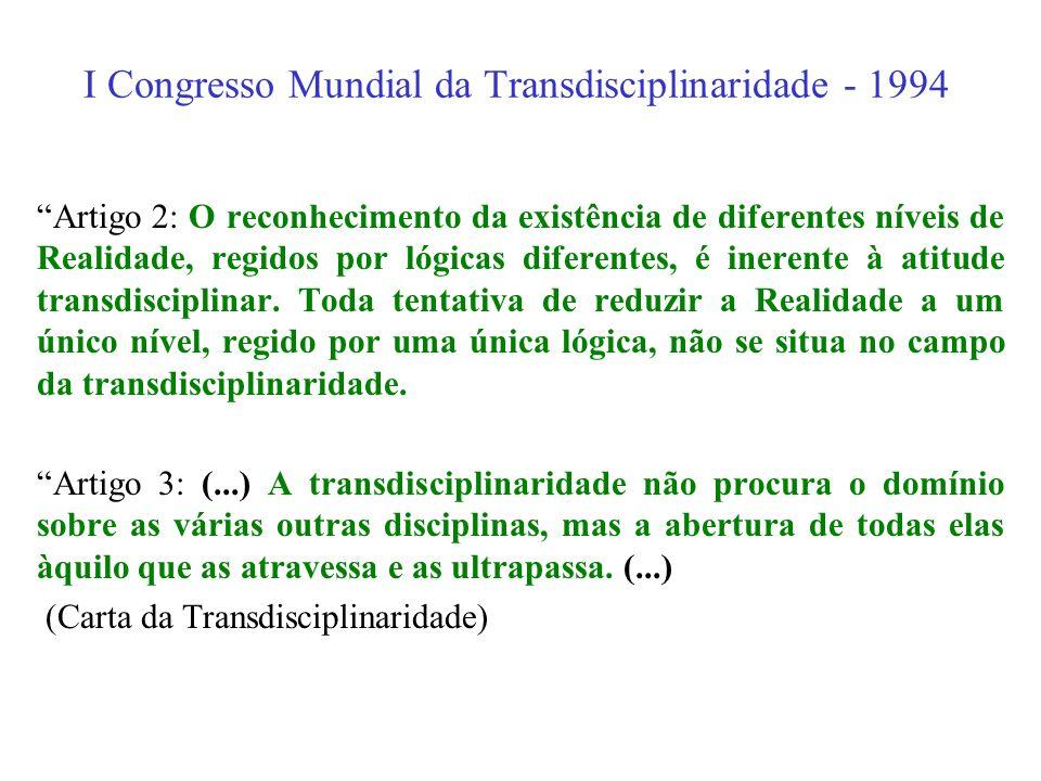 I Congresso Mundial da Transdisciplinaridade - 1994