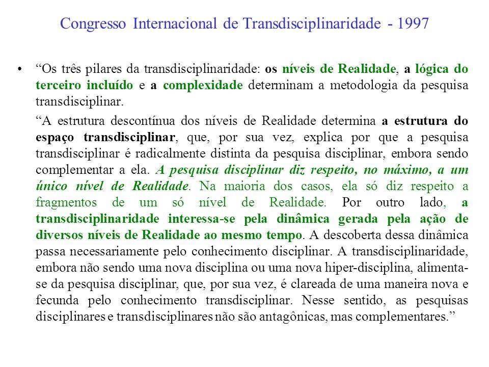 Congresso Internacional de Transdisciplinaridade - 1997