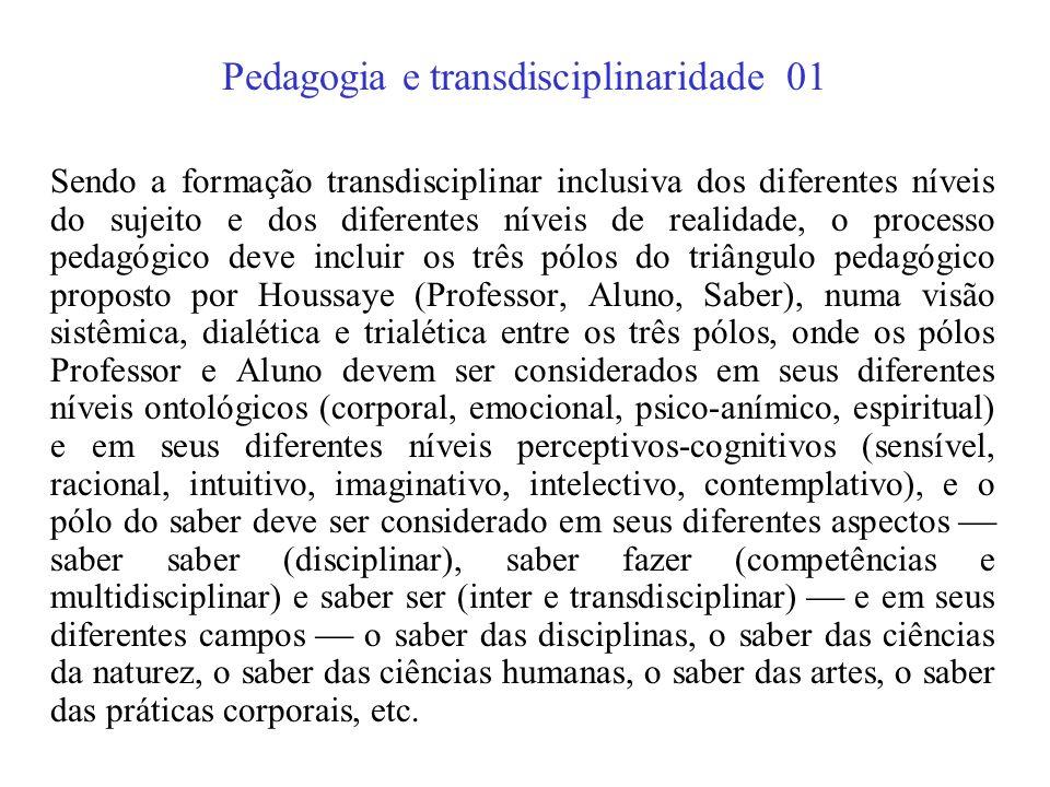 Pedagogia e transdisciplinaridade 01