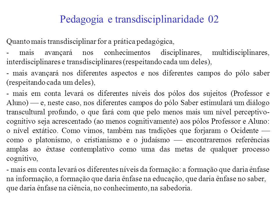 Pedagogia e transdisciplinaridade 02