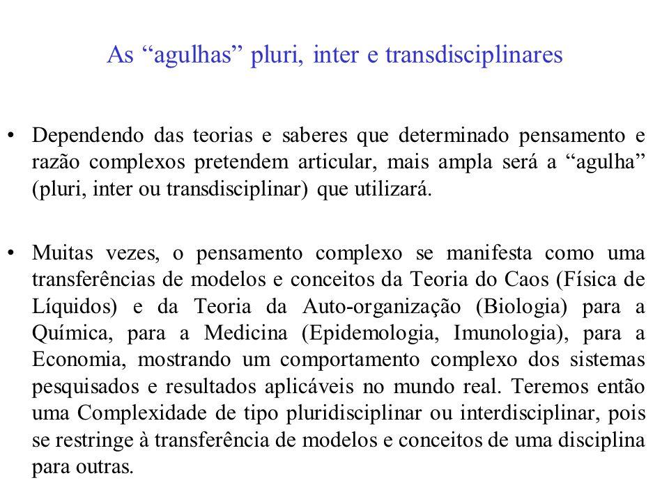 As agulhas pluri, inter e transdisciplinares