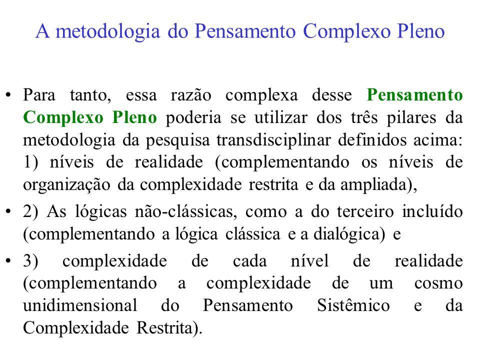 A metodologia do Pensamento Complexo Pleno