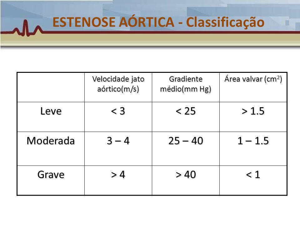 ESTENOSE AÓRTICA - Classificação