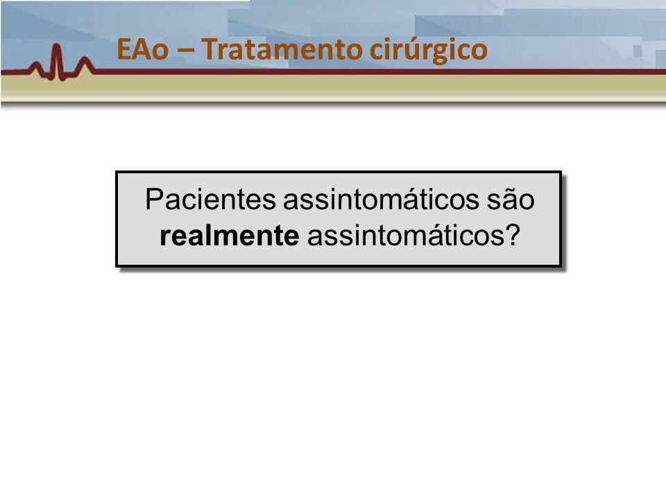 Pacientes assintomáticos são realmente assintomáticos