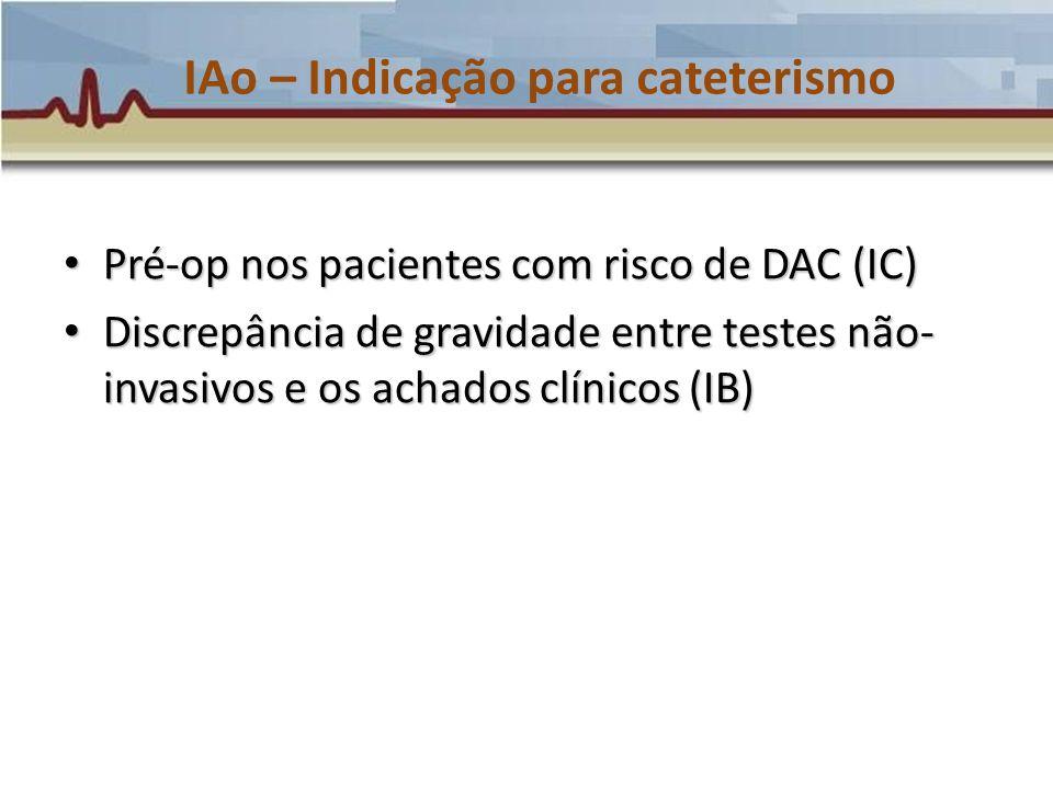IAo – Indicação para cateterismo