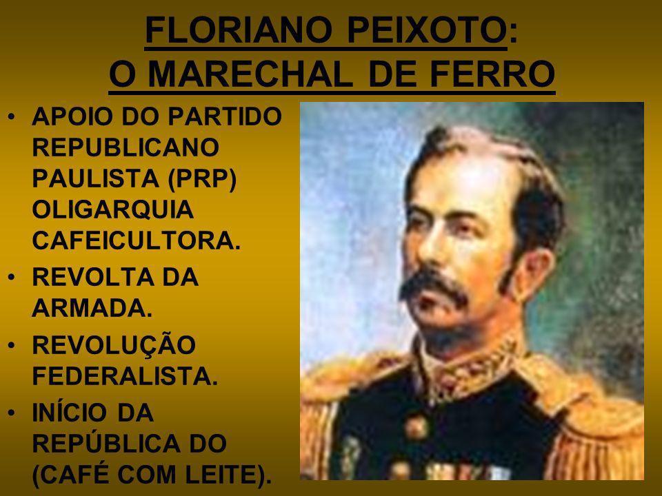 FLORIANO PEIXOTO: O MARECHAL DE FERRO