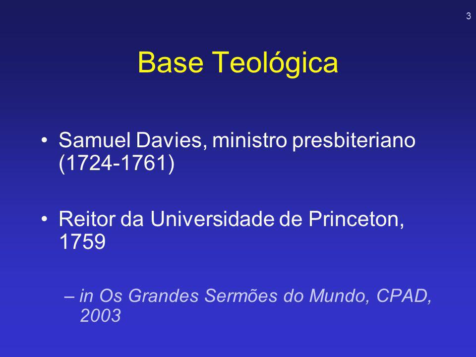 Base Teológica Samuel Davies, ministro presbiteriano (1724-1761)
