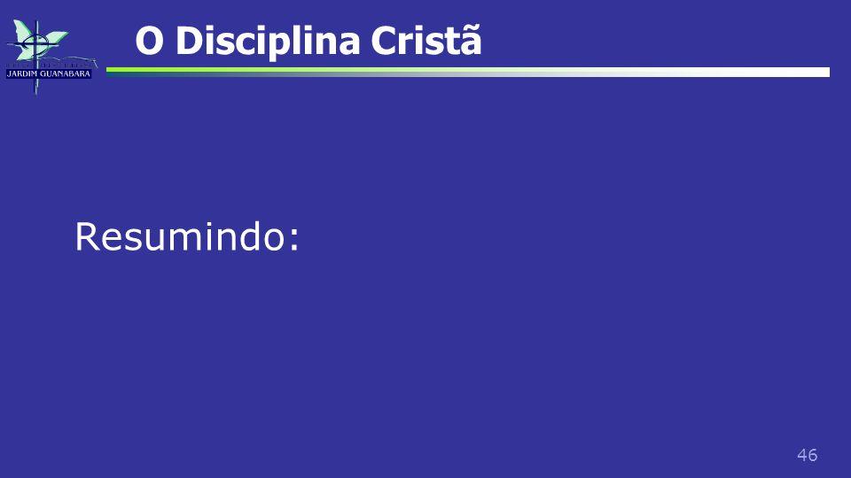 O Disciplina Cristã Resumindo: