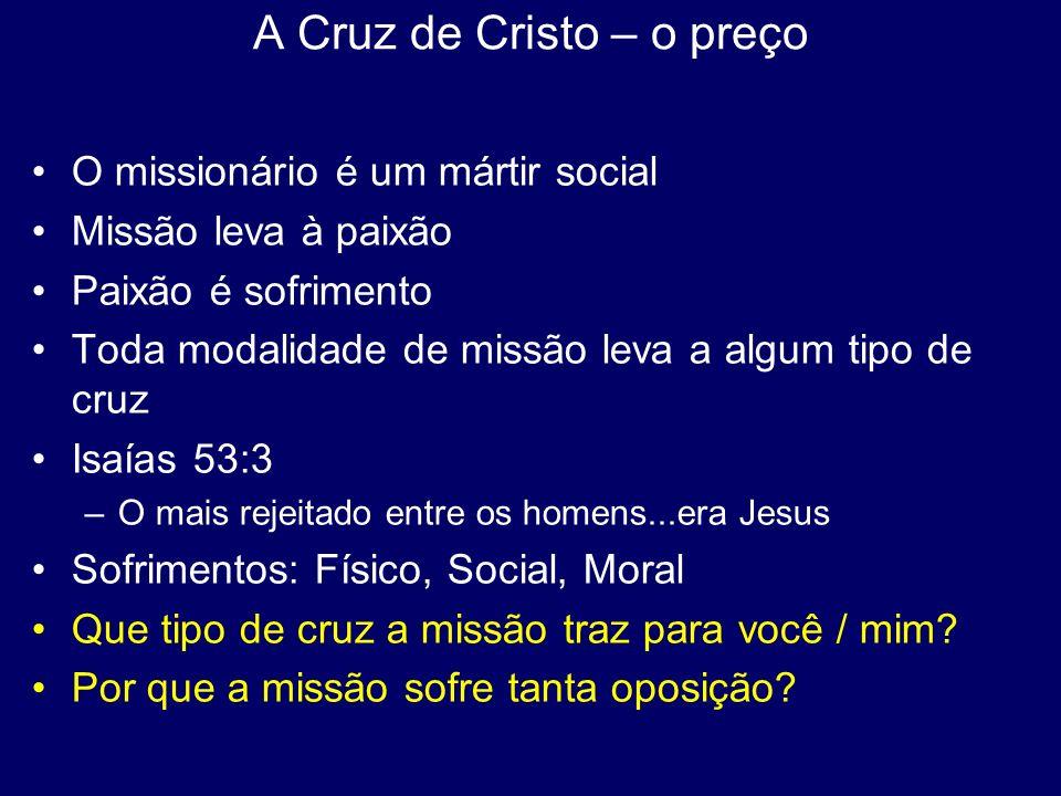 A Cruz de Cristo – o preço