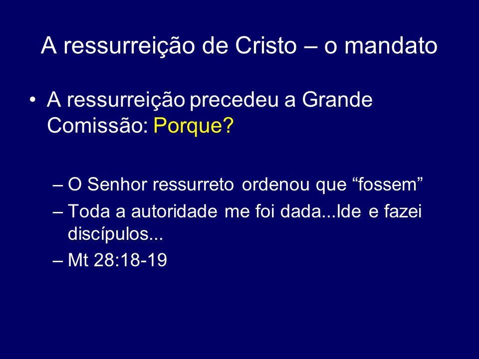 A ressurreição de Cristo – o mandato