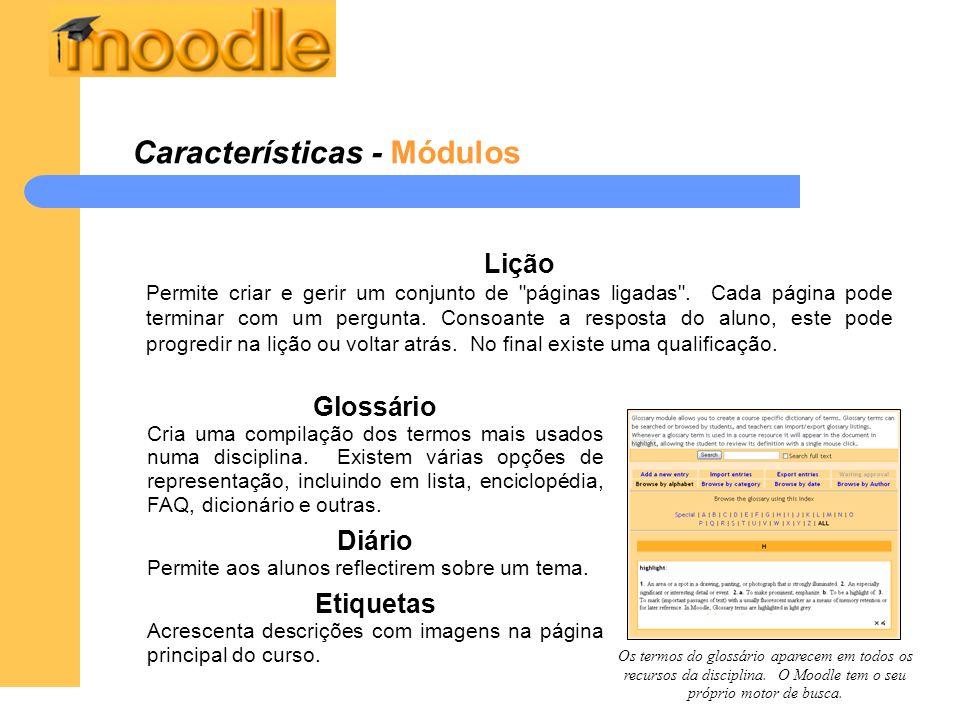 Características - Módulos