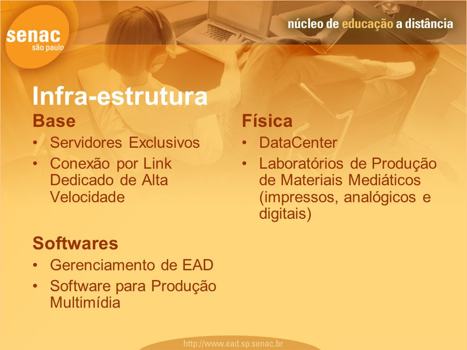 Infra-estrutura Base Softwares Física Servidores Exclusivos