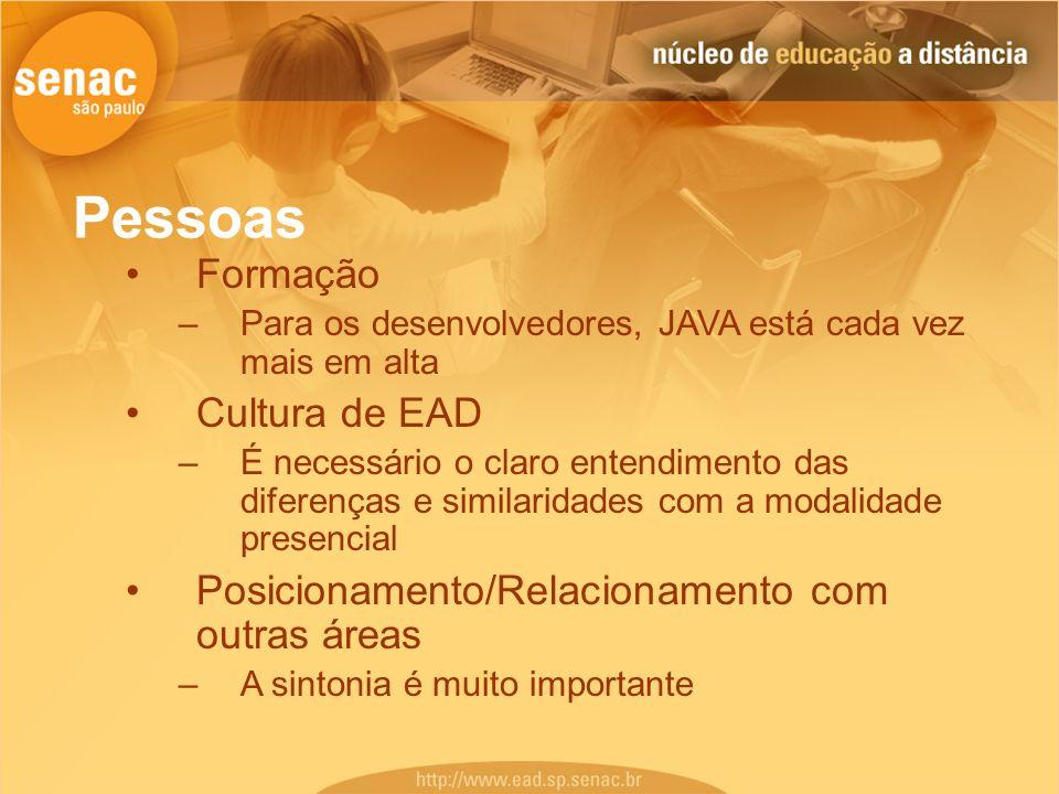Pessoas Formação Cultura de EAD