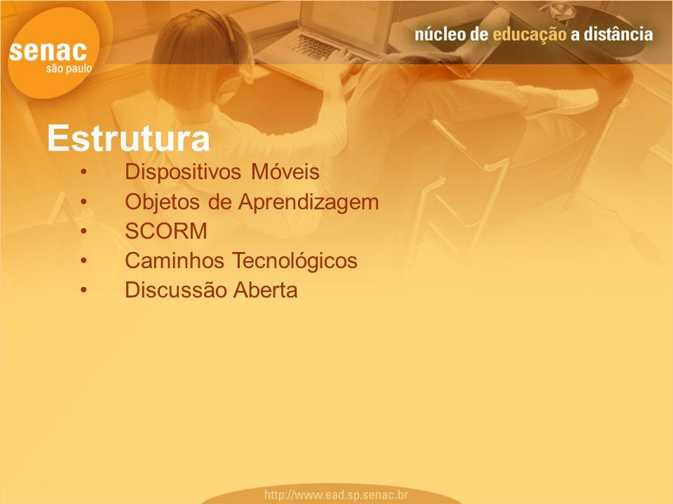 Estrutura Dispositivos Móveis Objetos de Aprendizagem SCORM