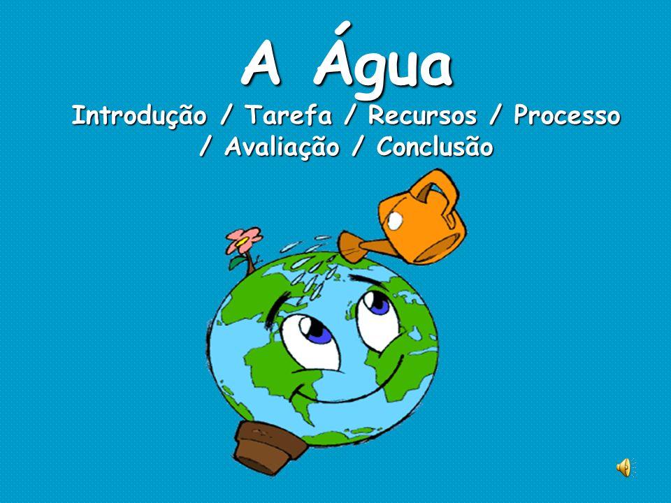 A Água Introdução / Tarefa / Recursos / Processo / Avaliação / Conclusão
